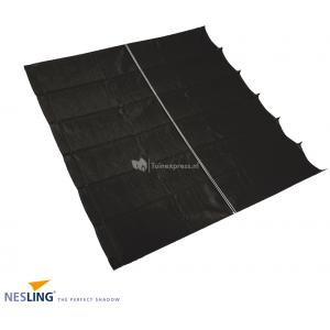 Coolfit harmonica schaduwdoek zwart 2.0 x 5.0 meter
