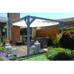 Complete Nesling pergola Stand Alone gebroken wit