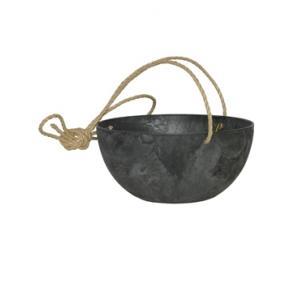 Artstone fiona hanging basket zwart L