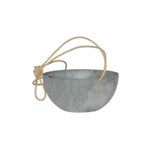 Artstone fiona hanging basket grijs L
