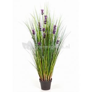 Kunstplant Lavender grass M