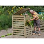 Compostbak van hout met deksel