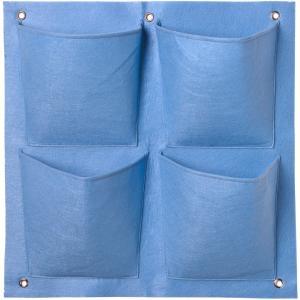 Plantentas voor verticaal tuinieren blauw 4 zakken 49.5 x 50 cm