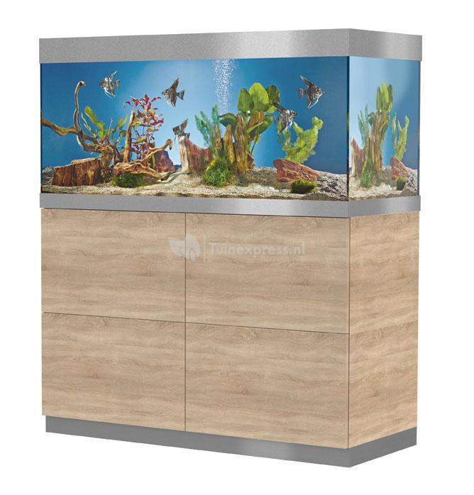 Oase indoor aquatics oase highline aquarium 400 eiken for Aquarium modern einrichten