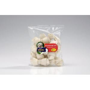 DeliSnacks kauwknoop wit 12 stuks hondensnack