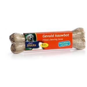 DeliSnacks gevuld kauwbot met bullepees hondensnack