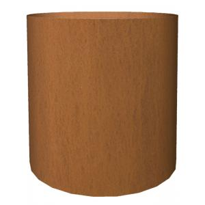 Cortenstaal plantenbak Basic cylinder 52x48cm op een ring