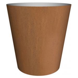 Cortenstaal plantenbak Conica hoog 40x39cm op een ring
