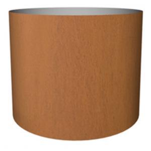 Cortenstaal plantenbak Standard cylinder 25x30cm op noppen van vilt