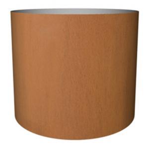 Cortenstaal plantenbak Standard cylinder 52x60cm op een ring