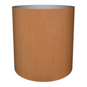Cortenstaal plantenbak Standard cylinder 77x70cm op een ring