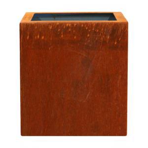 Cortenstaal plantenbak Trend Topper vierkant 60x60x62cm op een ring