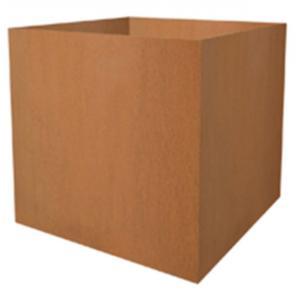 Cortenstaal plantenbak vierkant 50x50x52cm