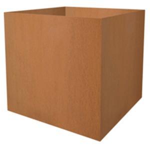 Cortenstaal plantenbak vierkant 70x70x72cm
