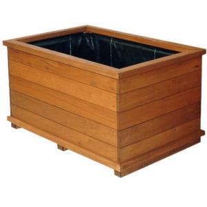 Dagaanbieding - Rechthoekige houten plantenbak FSC 120x40x48 cm dagelijkse aanbiedingen