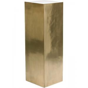 Plantenzuil Deco bronce 33x33x100 cm