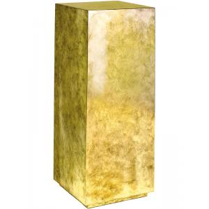 Plantenzuil Gold leaf 30x30x80 cm