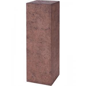 Plantenzuil polystone vierkant bruin 30x30x100 cm