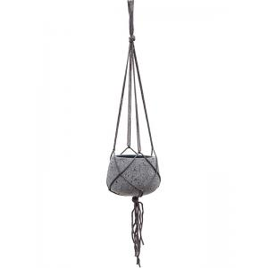 Stone Eco line hangpot 20x15 cm grijs