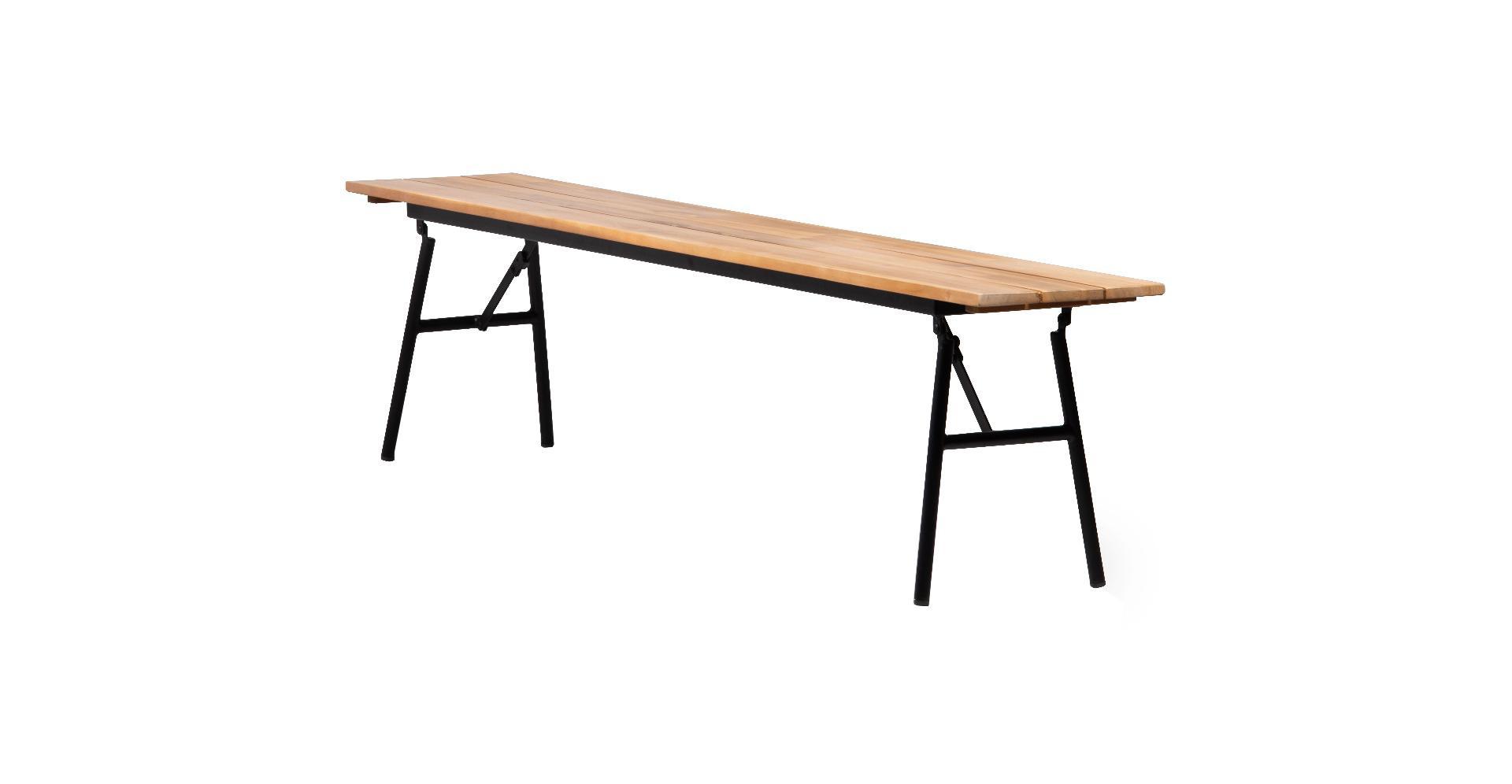 Folding bench 180x32x45 783