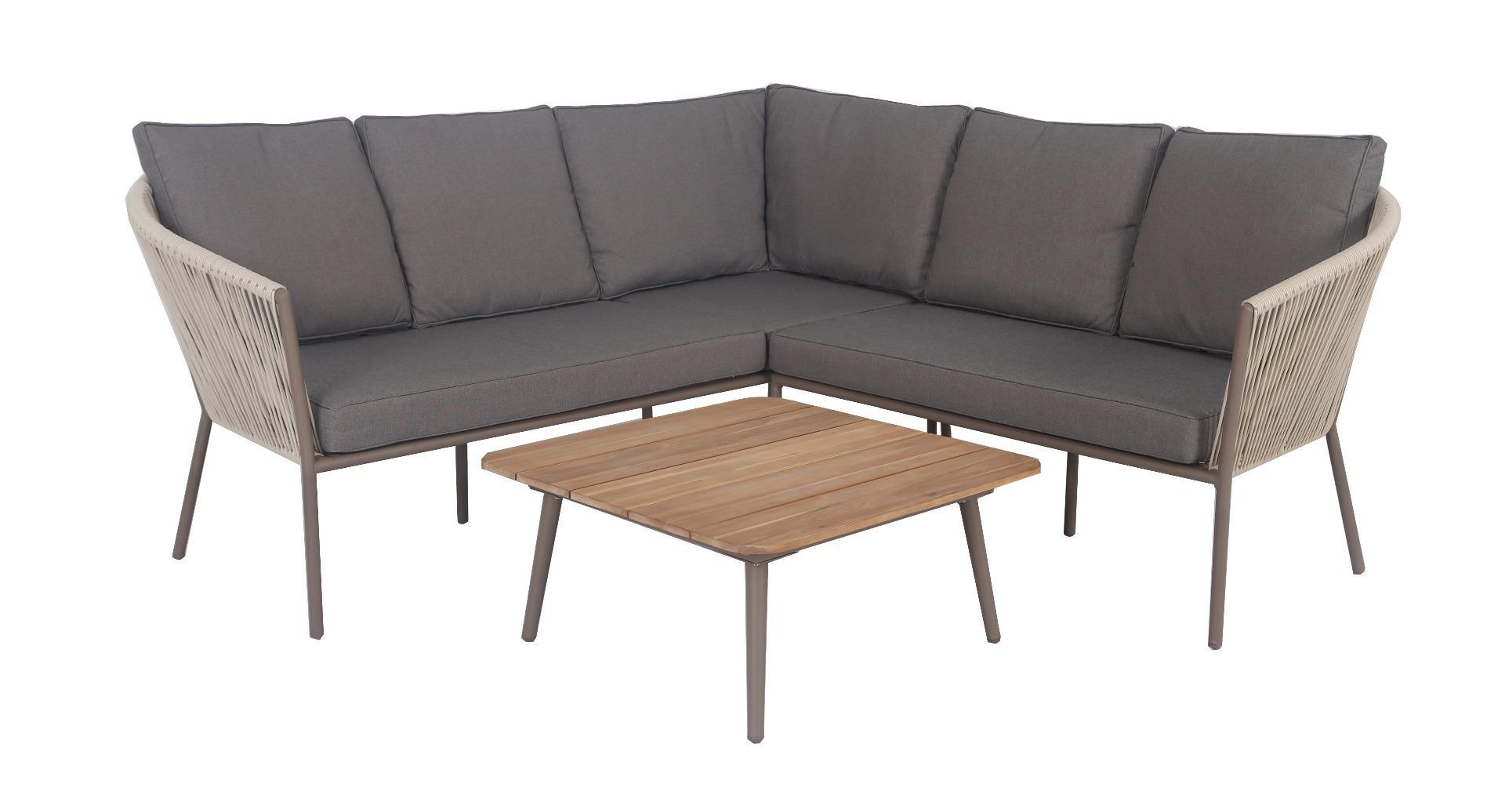Reims stackable corner set 3pcs (left arm right arm table 75x75cm)