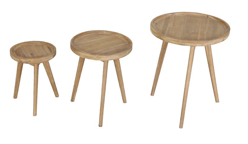 Korting San jose side tables set 3 tables ( 1x side table 30 cm 1x side table 40 cm 1x side table 50 cm)
