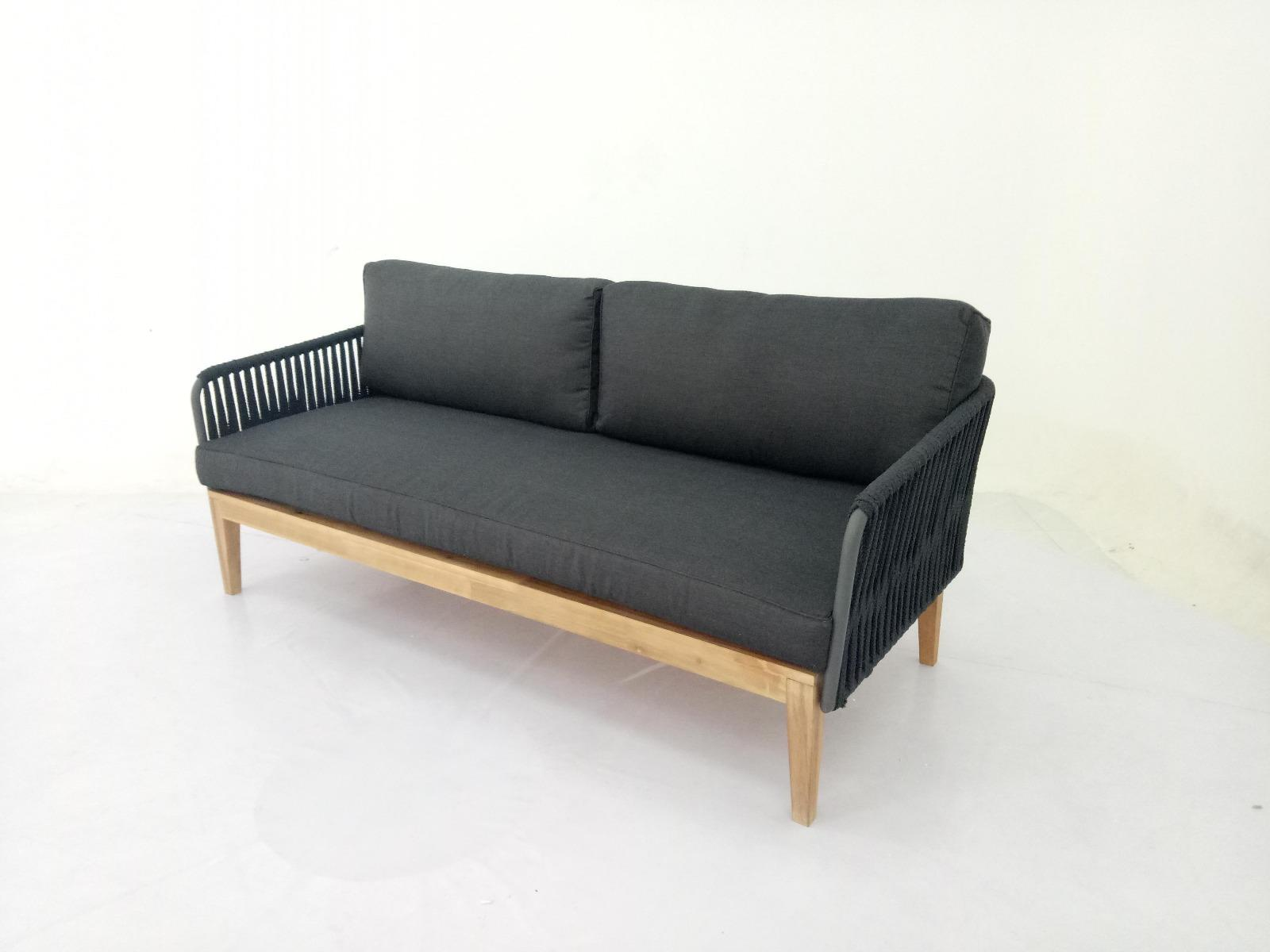 Korting Salamanca 3 seater lounge bench with middle leg (187cm)