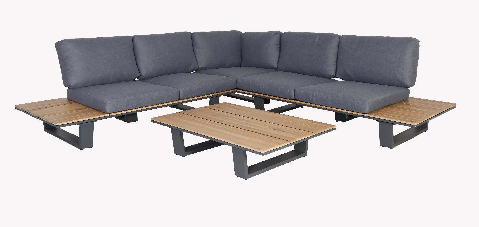 Korting Lota lounge corner set 3pcs (left arm right arm table 110x75x25cm)