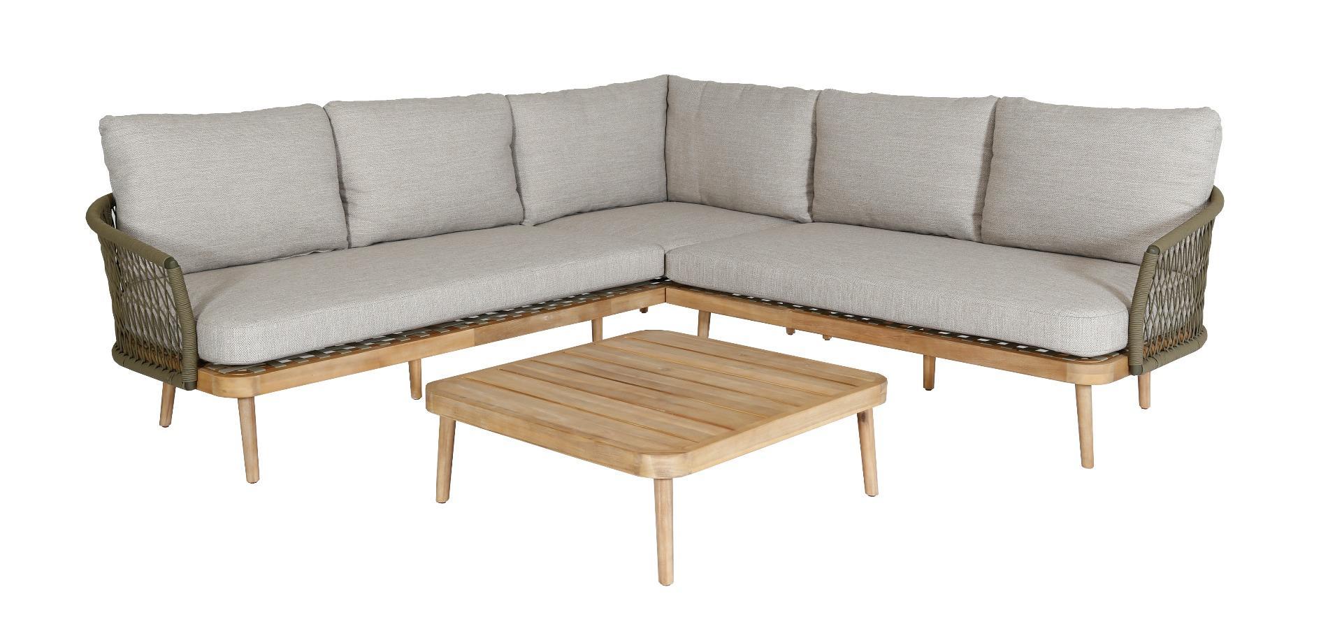Korting Maui lounge corner set 3pcs (left arm right arm table 80x80x28cm)