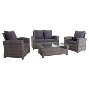 Loungeset sofa Laura grijs