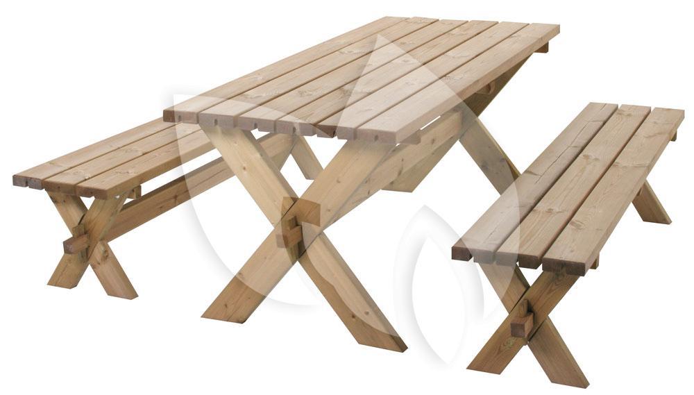 Houten Balkon Meubels : Sens line götenborg houten picknickset tuinexpress.nl