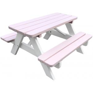 Kinderpicknicktafel Minnie roze/wit
