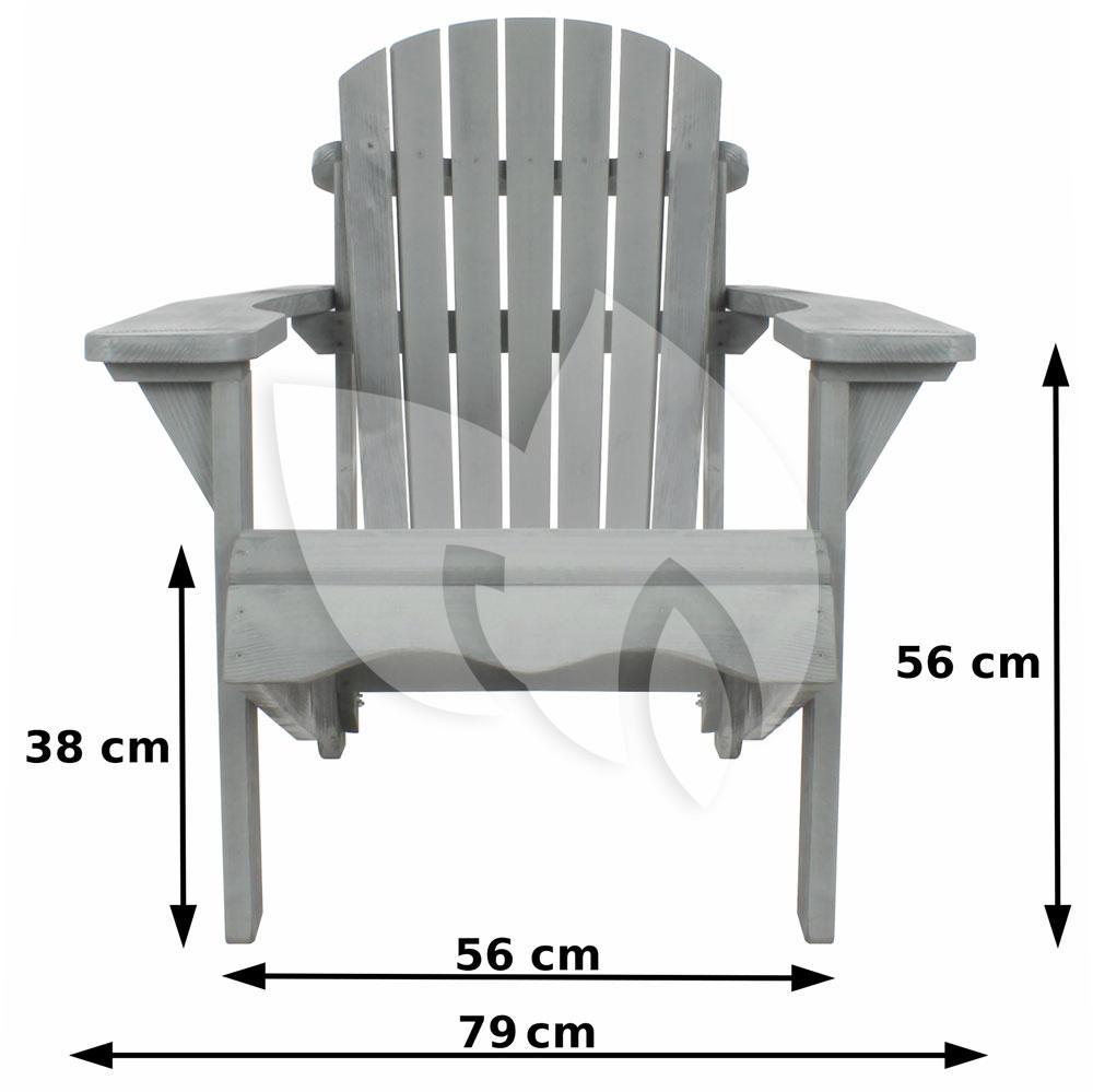 Sens line tuinstoel jumbo canadian grijs for Tuinstoel grijs