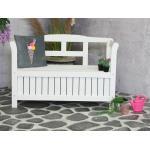 Pinokkio 2-persoons houten koffer tuinbank wit