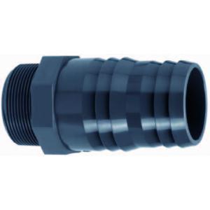 PVC slangtule met buitendraad - 2 x 60 - 64 mm