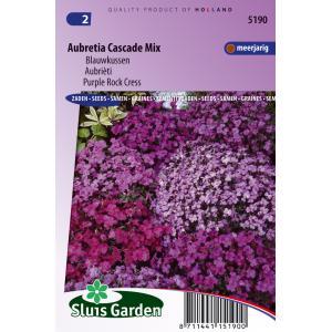 Korting Blauwkussen bloemzaden Aubretia Cascade Mix