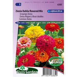 Korting Eenjarige Zinnia bloemzaden – Zinnia Dahlia flowered mix