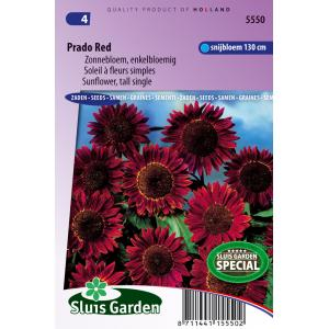 Zonnebloem enkelbloemig bloemzaden - Prado Red