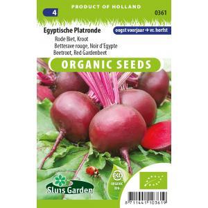 Rode biet biologische zaden - Egyptische Platronde