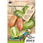Tomaat (langgerekt) zaden - Artisan Green & Pink Tiger