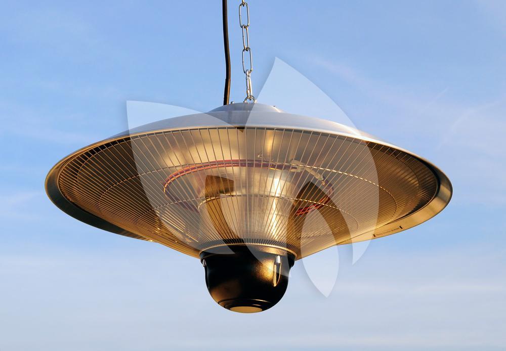 Sunred Hangende 1800 Watt heater met led-verlichting   Tuinexpress.nl