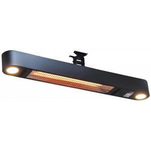 Ellips 1500 watt wand terrasverwarmer met verlichting
