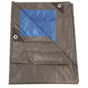 Afdekzeil 2 x 3 meter grijs/blauw 210 gr/m2