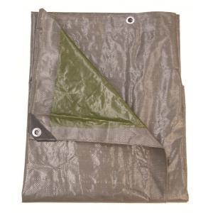 Afdekzeil 3 x 5 meter grijs/groen 140 gr/m2