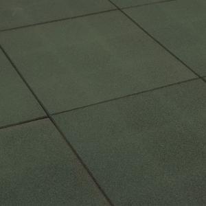 Korting Rubbertegel groen 50x50x2.5 cm
