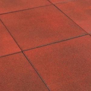 Rubbertegel rood 50x50x2.5 cm