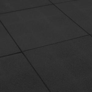 Rubbertegel zwart 50x50x2.5 cm