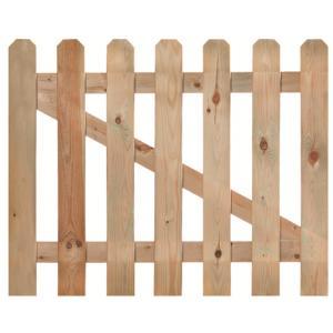 Korting Tuinhekdeur geimpregneerd grenen 80 x 100 cm