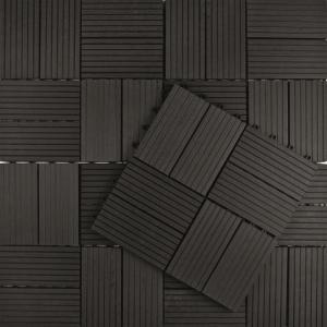 Korting Vlondertegel Premium 30 x 30 cm composiet antraciet