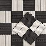 Vlondertegel Premium 30 x 30 cm composiet wit/antraciet